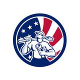 American Drainlayer USA Flag Icon - 200987468