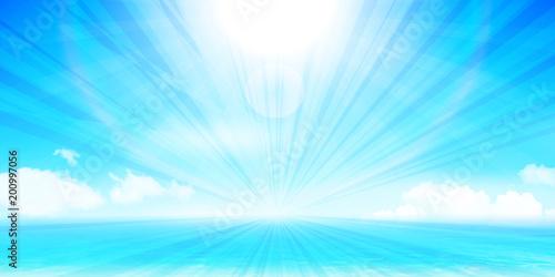Foto op Plexiglas Lichtblauw 海 夏 風景 背景