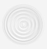 White gypsum decoration element for interior. 3d render
