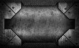 rusty iron template background