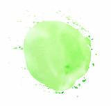 Green round watercolor vector texture