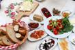 Traditional Turkish breakfast and breakfast table - 201025064