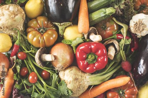 Asortyment warzyw wysoki kąt widzenia