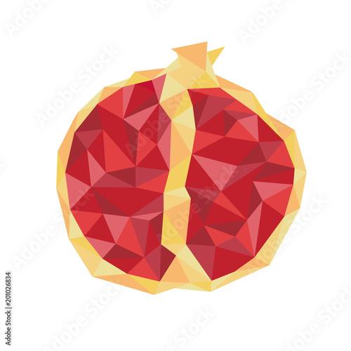 Red juicy ruby garnet. Fruits by season. - 201026834
