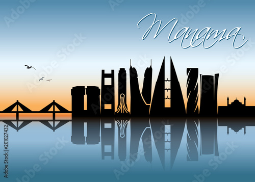 Obraz na płótnie Manama skyline - Bahrain
