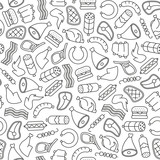 seamless pattern with meat design elements
