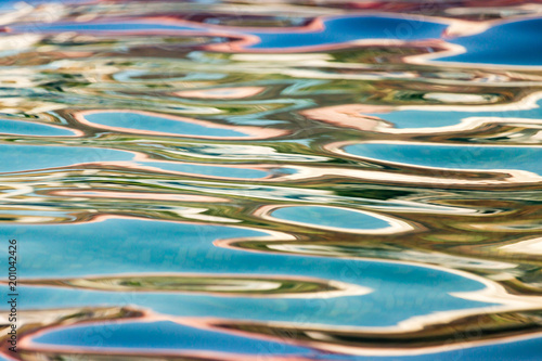 Foto Murales Abstract background of smooth water in the pool