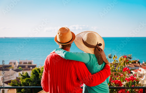Foto Murales happy couple on vacation in Europe