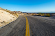 Long winding road through the Mojave desert.