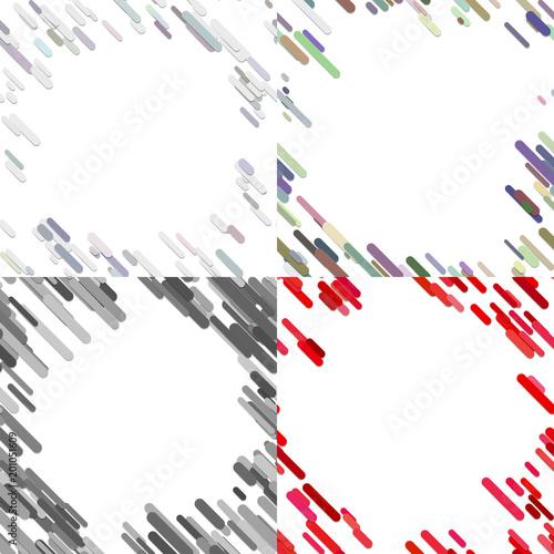 Kolorowe losowe ukośne paski wzór tła szablonu zestawu