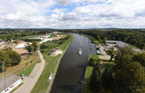 Wyciąg dla łodzi Niederfinow, widok platformy dla zwiedzających