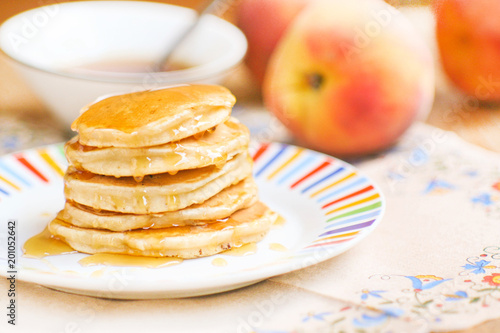 Sticker Pancakes with honey