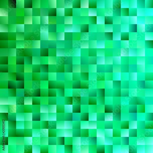 Zielony abstrakta kwadrata tło - modna wektorowa grafika od gradientów kwadratów