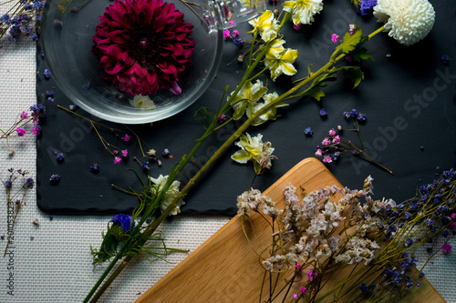 Foto Murales kitchen and flower