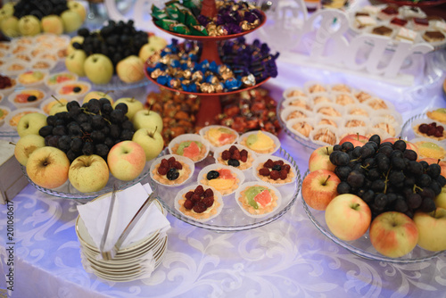Sticker Pastry and Fruits