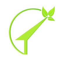 Logo Maison Nature écologie Vecteur Sticker