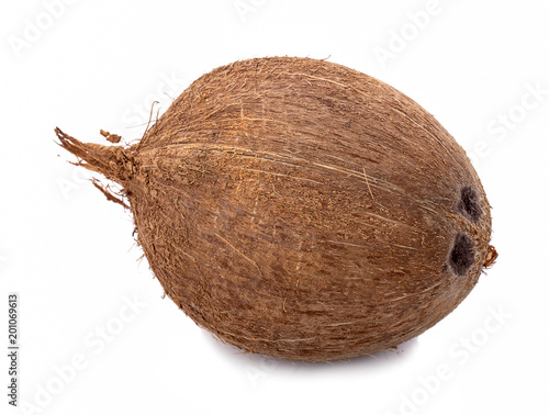 Foto Murales coconuts isolated on white background with clipping path