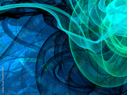 Staande foto Abstract wave colored abstract background, smoke effects, 3d illustration