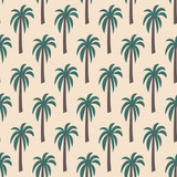 seamless coconut tree pattern - 201088615