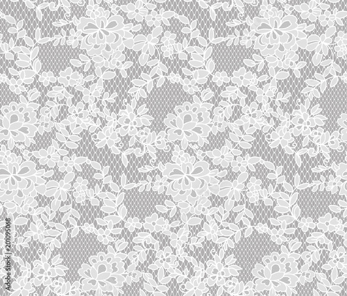 Fototapeta seamless floral lace pattern, vector illustration
