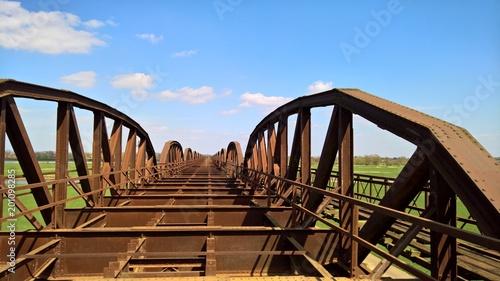 Foto Spatwand Spoorlijn Elbbrücke Dömitz