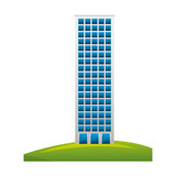 big building structure with grass vector illustration design - 201102875
