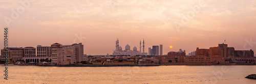 Abu Dhabi Mosque at sunset - 201104466