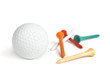 Golf ball and tees isolated