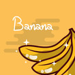 banana fruit delicious shiny poster vector illustration