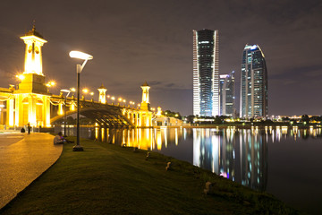 Putrajaya night view, Federal territory of Malaysia.