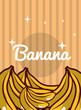 striped bright background fresh natural fruits banana vector illustration - 201109696