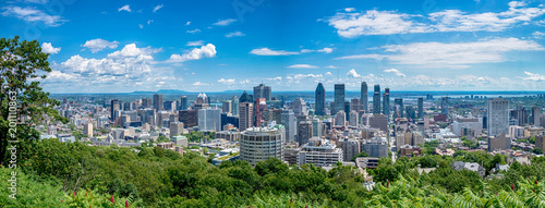 Leinwanddruck Bild View of Montreal city in Canada