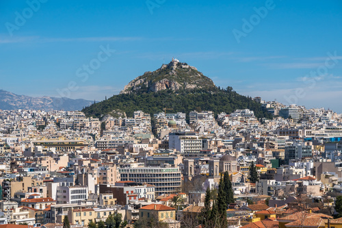 Keuken foto achterwand Athene Cityscape of Athens and Lycabettus Hill in the background, Athens, Greece