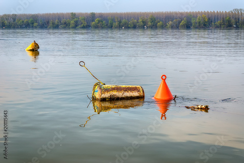 the river Danube and parking for ships