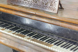 Classic old grand piano, with shabby keys - 201118271