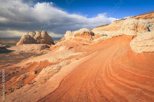 Foto op Plexiglas Oranje eclat Desert southwest landscape at White Pocket, Arizona, USA.