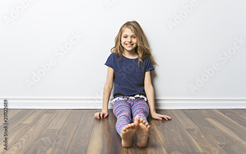 portrait of girl isolated on white
