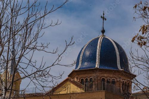 Kirche mit blauer Kuppel in Valencia