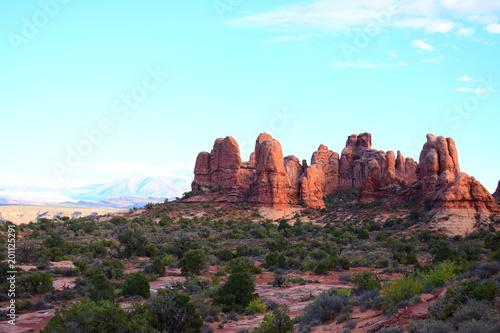 Foto op Plexiglas Lichtblauw Geologic Wonders of Arches National Park - Utah