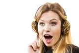 Teenage woman wearing headphones - 201128031