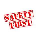 Safety first rubber stamp - 201130454