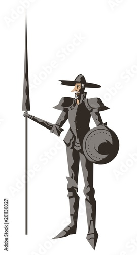 Fotobehang Boerderij quixote armored knight