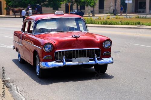 Fotobehang Havana キューバのクラシックカー