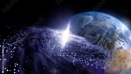 地球と銀河 © metamorworks