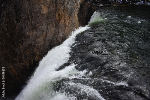 Roaring waterfall, Yellowstone National Park, Grand Canyon of the Yellowstone, Lower Falls, Wyoming - 201148658