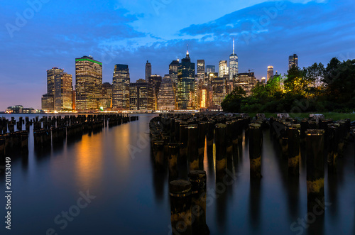 New York City's East River at Night