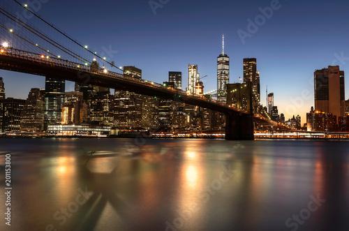 Foto Murales The Brooklyn Bridge over the East River