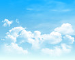 Background with clouds on blue sky. Blue Sky vector - 201166684