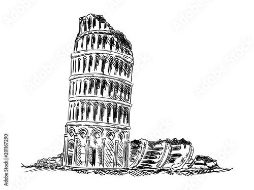 ruiny wieży w Pizie