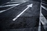 City asphalt road with arrow sign background. - 201170887